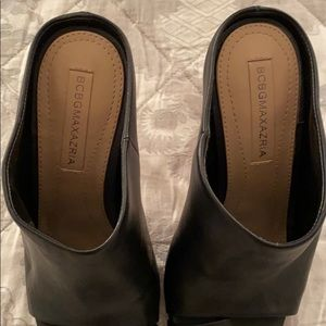 BCBGMaxAzria Shoes - BCBG Black Leather Mules